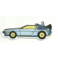 Textile patche DELOREAN BLAK TO THE FUTURE 8cm x 8cm
