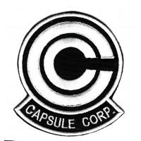 Parche bordado Anime Dragon Ball Z Capsule Corp. 7cm x 8.5cm