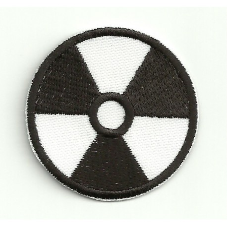 embroidery patch RADIOACTIVITY WHITE 4,4cm
