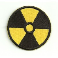embroidery patch RADIOACTIVITY YELLOW 4,5cm