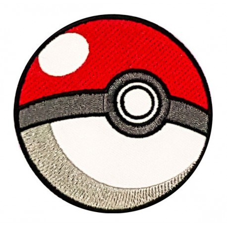 Patch embroidery POKEMON POKEBALL 4cm
