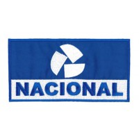 Embroidery Patch blue NACIONAL 20cm x 10cm
