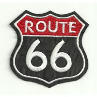 Embroidery Patch ROUTE 66 3,5cm x 3,5cm