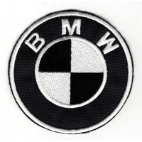 Embroidery patch BLACK BMW 6cm