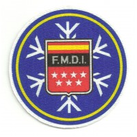 Textile patch F.M.D.I. FERERACION MADRILEÑA DEPORTES INVIERNO 3,75cm