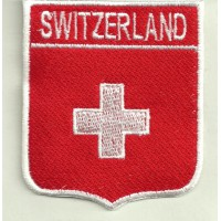 Patch embroidery SHIELD SWISS 67mm x 78mm