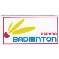 textile patch FEDERACIÓN ESPAÑOLA DE BADMINTON 4,5cm x 2,3cm