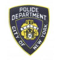 Textile patch POLICE NEW YORK 7,5cm x 9cm