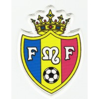Embroidery and textile patch Moldovan Football Federation 3,5cm x 4,5cm