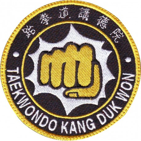 Patch embroidery TAEKWONDO TKD 8cm