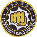 Patch embroidery TAEKWONDO KANG DUK WON 4cm
