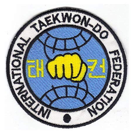 Patch embroidery TAEKWONDO KANG DUK WON 8cm