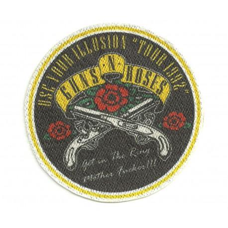"""Textile patch GUNS N´ ROSES """"TOUR 1992"""" 8CM X 8CM"""