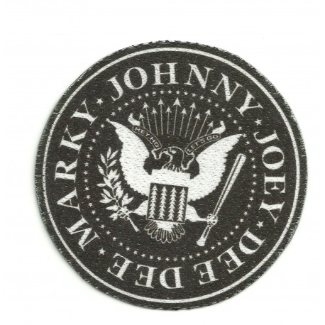 Textile patch MARKY JOHNNY JOEY DEE DEE ( RAMONES) 7,5cm