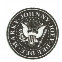 Textile patch MARKY JOHNNY JOEY DEE DEE ( RAMONES) 3,75cm
