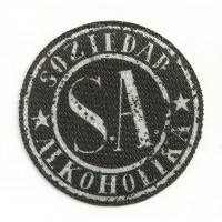 Textile patch SOZIEDAD ALKOHOLIKA NEGRO 8,5cm