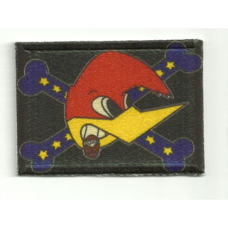 Embroidery and textile patch WOODY WOODPECKER FLAG 7cm x 5cm