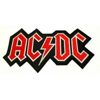Embroidered patch ACDC 5cm x 2,7cm