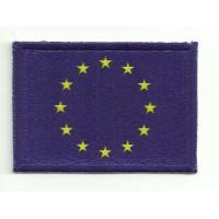 Parche bordado y textil BANDERA EUROPA 4CM X 3CM