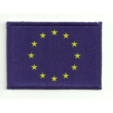 Patch embroidery and textile FLAG EUROPE 4CM X 3CM
