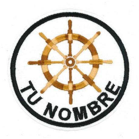 Embroidered patch PERSONALIZED YACHT PATTERN 8cm