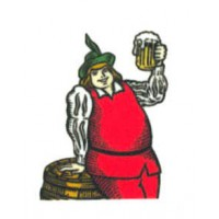 Embroidered patch GAMBRINUS 4cm x 5cm