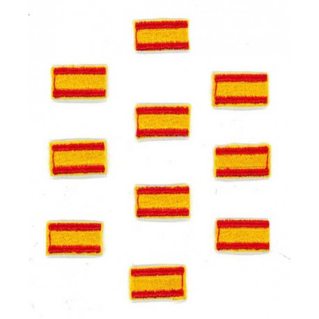 Patch embroidery FLAG SPAIN 7CM X 5CM