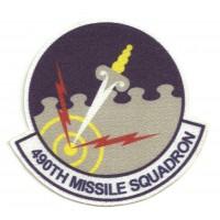 Textile patch 490th MISSILE SQUADRON 8cm x 7,5cm