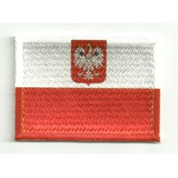 Patch embroidery and textile FLAG POLAND 4CM X 3CM