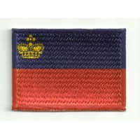 Patch embroidery and textile FLAG LIECHTENSTEIN 4CM x 3CM