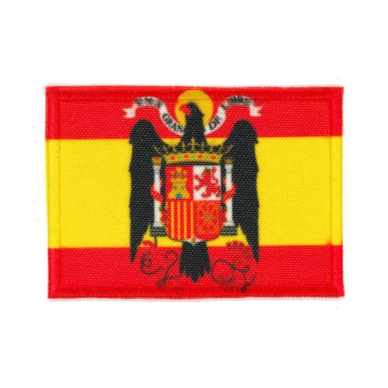 Parche Bordado Y Textil Bandera España Aguila De San Juan 4cm X 3cm Los Parches