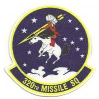 Parche textil 320th MISSILE SQUADRON 8cm x 8cm