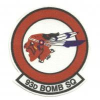 Parche textil 93d BOMB SQUADRON 7cm x 8cm