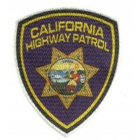 Textile patch CALIFORNIA HIGHWAY PATROL 7,5cm x 9cm
