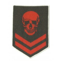 Textile patch AIRSOFT GALLON SKULL 5,5cm x 8cm