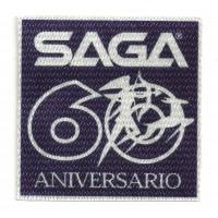 Parche textil SAGA 60 ANIVERSARIO 8cm x 8cm