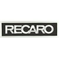Patch embroidery RECARO BLACK / WHITE 90mm x 25mm