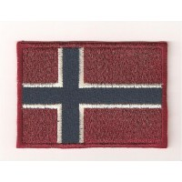 Patch embroidery FLAG NORWAY 7CM x 5CM