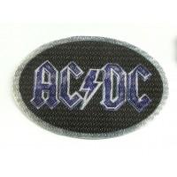 Parche textil AC DC AZUL 8,5cm x 5,5cm