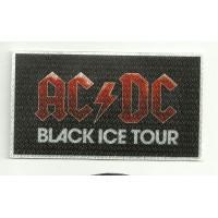 Parche textil AC DC BLAK ICE TOUR 9,5cm x 5cm