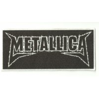 Parche textil METALLICA NEGRO 11 cm x 5cm