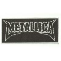 Textile patch METALLICA NEGRO 11 cm x 5cm
