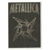 Parche textil METALLICA LOGO 7,5 cm x 10,5cm
