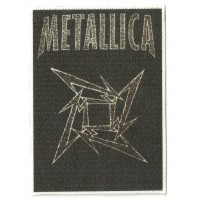 Textile patch METALLICA LOGO 7,5 cm x 10,5cm