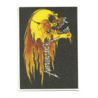 Parche textil METALLICA CALAVERA 9,5 cm x 6,5cm