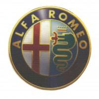 Parche textil ALFA ROMEO 7,5cm x 7,5cm
