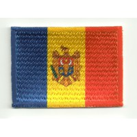 Patch embroidery and textile FLAG MOLDOVA 4CM x 3CM