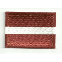 Patch embroidery and textile FLAG LATVIA 4CM x 3CM