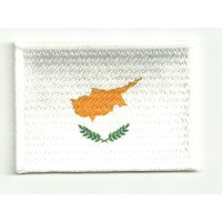 Patch embroidery and textile FLAG CYPRUS 7CM x 5CM