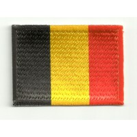 Patch embroidery and textile FLAG BELGIUM 4CM x 3CM